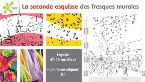La seconde esquisse des fresques murales